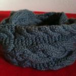 photo tricot patron tricoter écharpe tube 4