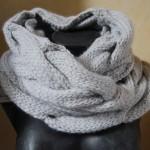 photo tricot patron tricoter écharpe tube 6