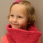 photo tricot patron tricoter écharpe tube 9