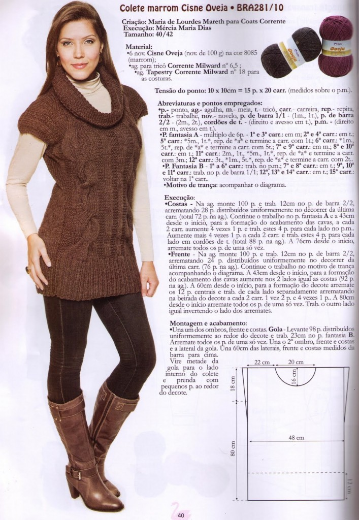 photo tricot patron tricoter pull 4