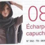 photo tricot tricot modele echarpe capuche 13