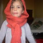 photo tricot tricot modele echarpe capuche 2