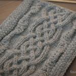 photo tricot tricot modele echarpe capuche 3