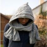 photo tricot tricot modele echarpe capuche 4