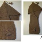photo tricot tricot modele echarpe capuche 6