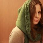 photo tricot tricot modele echarpe capuche 7