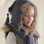 photo tricot tricot modele echarpe capuche 9