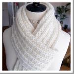 photo tricot tricot modele echarpe facile 2
