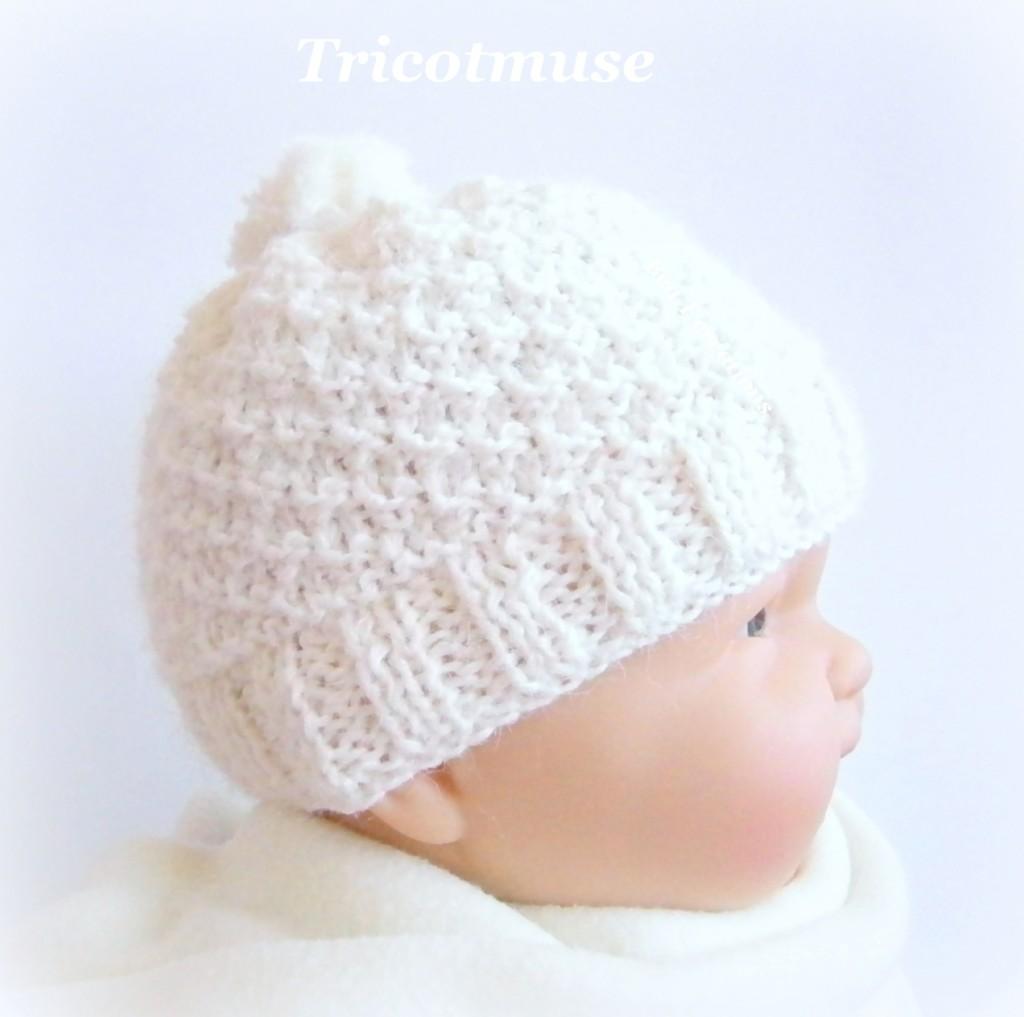 photo tricot tricoter bonnet bébé naissance facile 15 4224af09bee