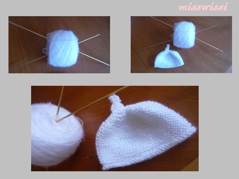 Photo Tricot Tricoter Bonnet Bébé Naissance Facile 5
