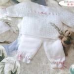 photo tricot tricoter modele layette 11