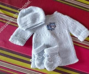photo tricot tricoter modele layette 18