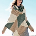 photo tricot tricoter modele poncho 12