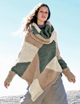 modele poncho a tricoter