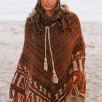 photo tricot tricoter modele poncho 14