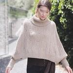photo tricot tricoter modele poncho 2