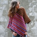 photo tricot tricoter modele poncho 6