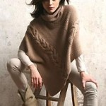 photo tricot tricoter modele poncho 7